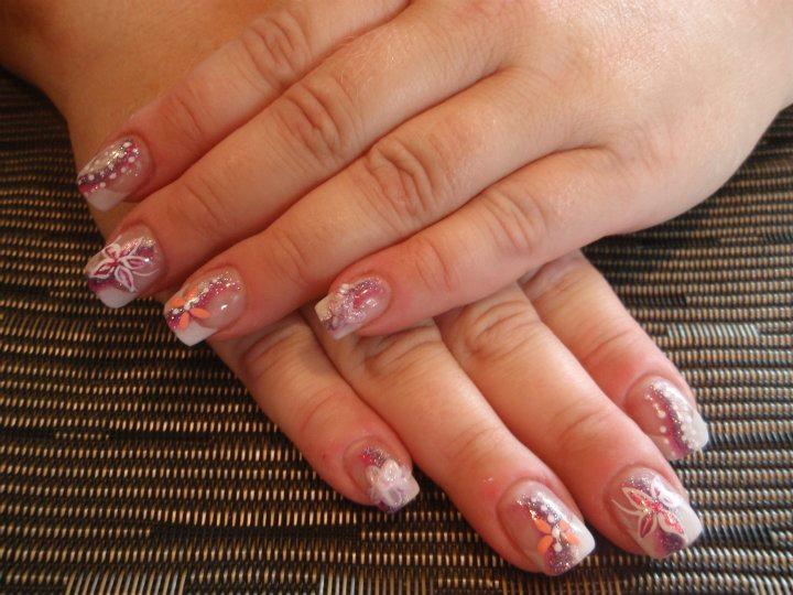 blumendesign fingerngel muster - Gel Fingernagel Muster