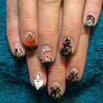 Fingernägel Motiv für Halloween