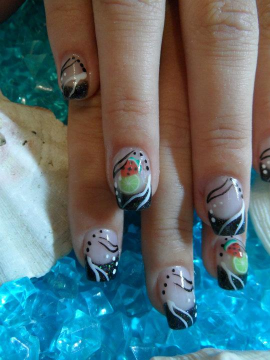 Früchte Fingernägel