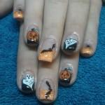 Halloween Acrylfingernägel
