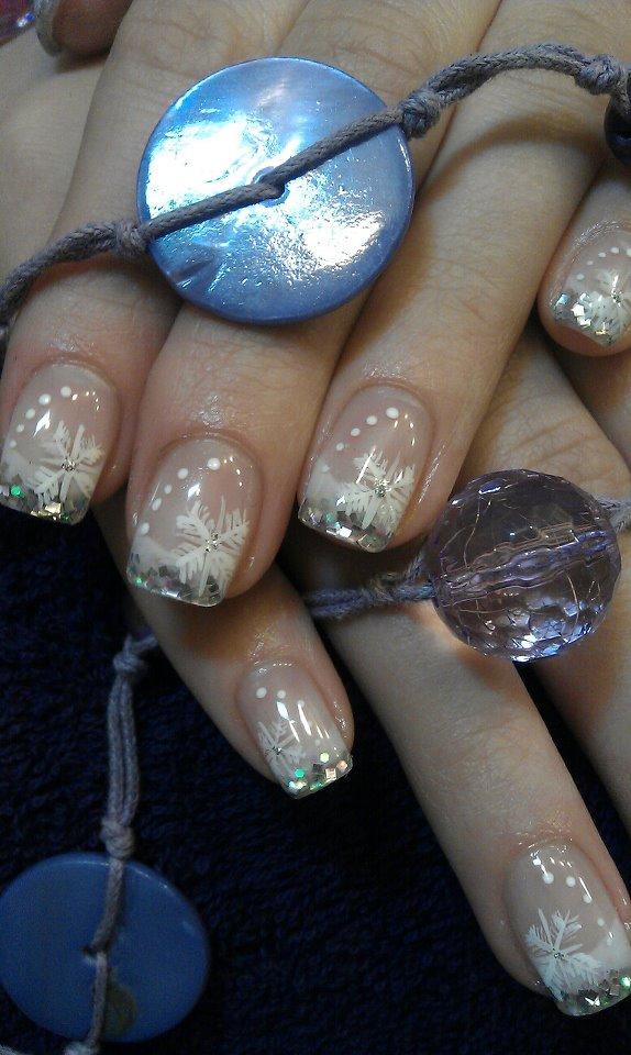 Schneeflöckchen Motiv für Fingernägel