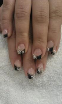 Sternen Finger Nägel Motiv